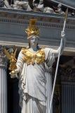 雅典娜pallas雕象维也纳 免版税库存图片