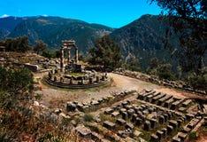 雅典娜Pronea特尔斐希腊寺庙  库存图片