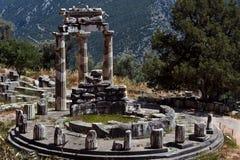 雅典娜Pronea特尔斐希腊寺庙  库存照片
