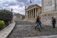 雅典学警系列在城市的中心 图库摄影