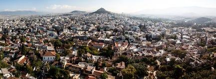 雅典宽全景  免版税图库摄影