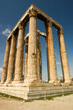雅典寺庙宙斯 免版税库存图片
