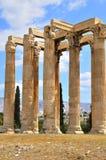 雅典寺庙宙斯 免版税图库摄影