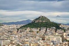 雅典小山lycabettus 免版税图库摄影