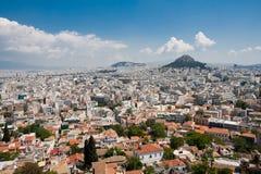 雅典小山lykavitos 免版税库存照片