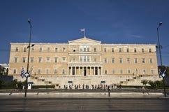 雅典市希腊议会 免版税库存照片