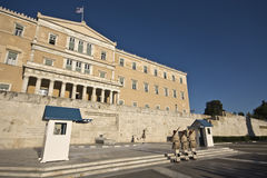 雅典市希腊议会 免版税图库摄影