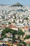 雅典市视图 库存照片