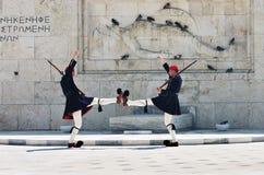 雅典希腊卫兵 库存图片