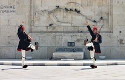雅典希腊卫兵 免版税库存照片