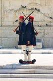 雅典希腊卫兵 免版税库存图片