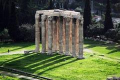 雅典希腊奥林山寺庙宙斯 免版税库存照片