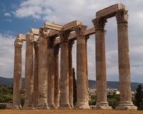 雅典希腊奥林山寺庙宙斯 免版税图库摄影