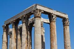 雅典希腊寺庙宙斯 免版税库存照片
