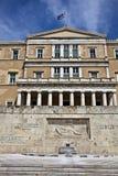 雅典希腊希腊议会 免版税库存图片