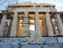 雅典希腊帕台农神庙 库存照片
