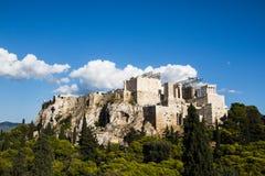 雅典希腊帕台农神庙 免版税图库摄影