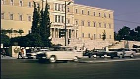 雅典希腊议会 股票视频