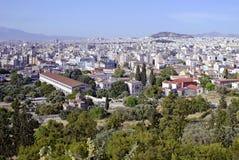 雅典希腊都市风景  库存图片