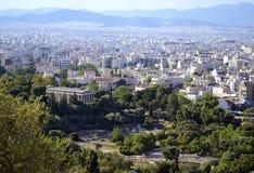 雅典希腊都市风景  免版税库存图片