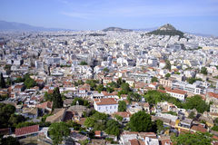 雅典希腊都市风景  库存照片