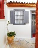 雅典希腊,葡萄酒房子在Plaka 库存照片