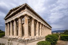 雅典希腊hephaestus寺庙 免版税图库摄影