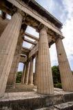 雅典希腊hephaestus寺庙 图库摄影