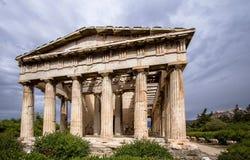 雅典希腊hephaestus寺庙 免版税库存照片