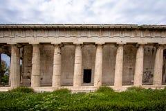 雅典希腊hephaestus寺庙 库存照片