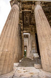 雅典希腊hephaestus寺庙 免版税库存图片