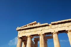 雅典帕台农神庙,希腊 免版税库存图片