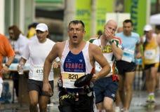 雅典经典马拉松长跑 库存图片