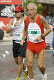 雅典经典马拉松长跑 库存照片