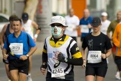 雅典经典马拉松长跑 图库摄影