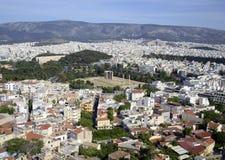 雅典都市风景 免版税库存照片