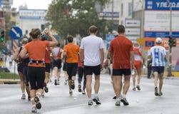 雅典马拉松 免版税库存图片