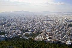 雅典鸟瞰图,从Lycabettus山 库存图片