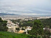 雅典鸟瞰图  免版税库存照片