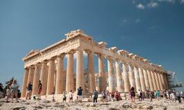 雅典,上城小山帕台农神庙  库存照片
