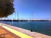 雅典,希腊小游艇船坞  免版税库存照片