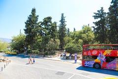 雅典,希腊街道  库存照片