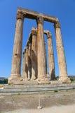雅典,希腊,奥林山宙斯寺庙  免版税库存图片