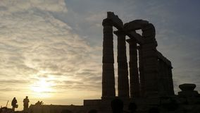 雅典,希腊,2014年12月15日:纪念碑 免版税库存照片