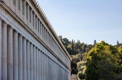 雅典,希腊 古老集市, Attalus拱廊stoa外部视图 免版税库存图片