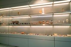 雅典,希腊- 2017年11月15日:新的上城博物馆的内部看法在雅典 设计由瑞士法语 库存照片