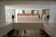 雅典,希腊- 2017年11月15日:新的上城博物馆的内部看法在雅典 设计由瑞士法语 库存图片