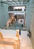 雅典,希腊- 2017年11月15日:新的上城博物馆的内部看法在雅典 设计由瑞士法语 免版税库存照片