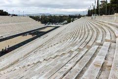 雅典,希腊- 2017年1月20日:Panathenaic体育场或kallimarmaro惊人的看法在雅典 库存图片