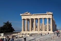 雅典,希腊- 2016年5月6日:帕台农神庙照片  上城 图库摄影